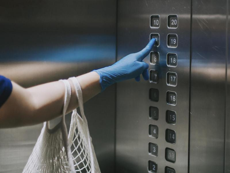 Researchers believe the woman's neighbour caught Covid-19 from the lift: iStock