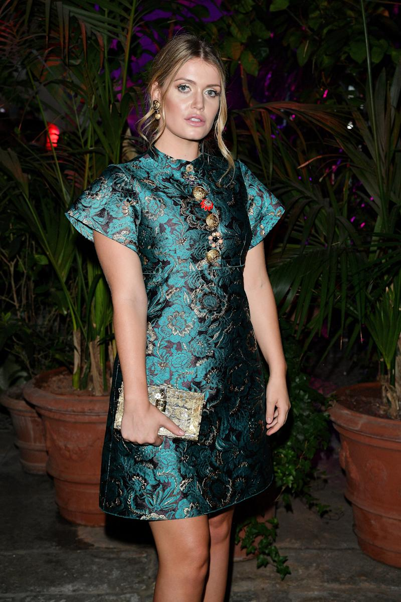 Kitty Spencer attends Dolce & Gabbana Queen Of Hearts Party show during Milan Fashion Week on Sept. 24 in Milan, Italy.  (Venturelli via Getty Images)