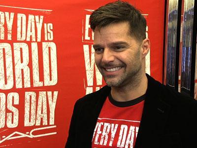 "Latin super star Ricky Martin discusses his work with World AIDS Day and his involvement with M.A.C. Viva Glam. He also chats about his upcoming dramedy on NBC and joining the judges panel on Australia's ""The Voice."" (Nov. 30)"