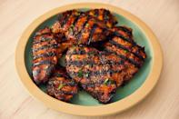 """<p>Grilled <a href=""""https://www.delish.com/uk/chicken-recipes/"""" rel=""""nofollow noopener"""" target=""""_blank"""" data-ylk=""""slk:chicken"""" class=""""link rapid-noclick-resp"""">chicken</a> breasts can be the epitome of boring. Too often they're dried out or rubbery. But when soaked in a super-quick <a href=""""https://www.delish.com/uk/cooking/recipes/a30748589/how-to-marinate-chicken/"""" rel=""""nofollow noopener"""" target=""""_blank"""" data-ylk=""""slk:marinade"""" class=""""link rapid-noclick-resp"""">marinade</a> — with balsamic, brown sugar, and dried thyme — you're guaranteed deliciousness.</p><p>Get the <a href=""""https://www.delish.com/uk/cooking/recipes/a28841199/best-grilled-chicken-breast-recipe/"""" rel=""""nofollow noopener"""" target=""""_blank"""" data-ylk=""""slk:Grilled Chicken Breast"""" class=""""link rapid-noclick-resp"""">Grilled Chicken Breast</a> recipe. </p>"""