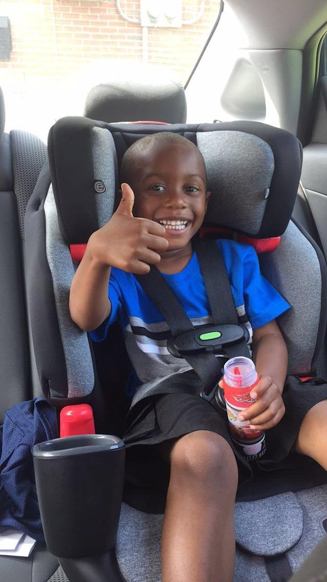 Isaiah in his new car seat. (Photo: Courtesy of Khadijah Rice)