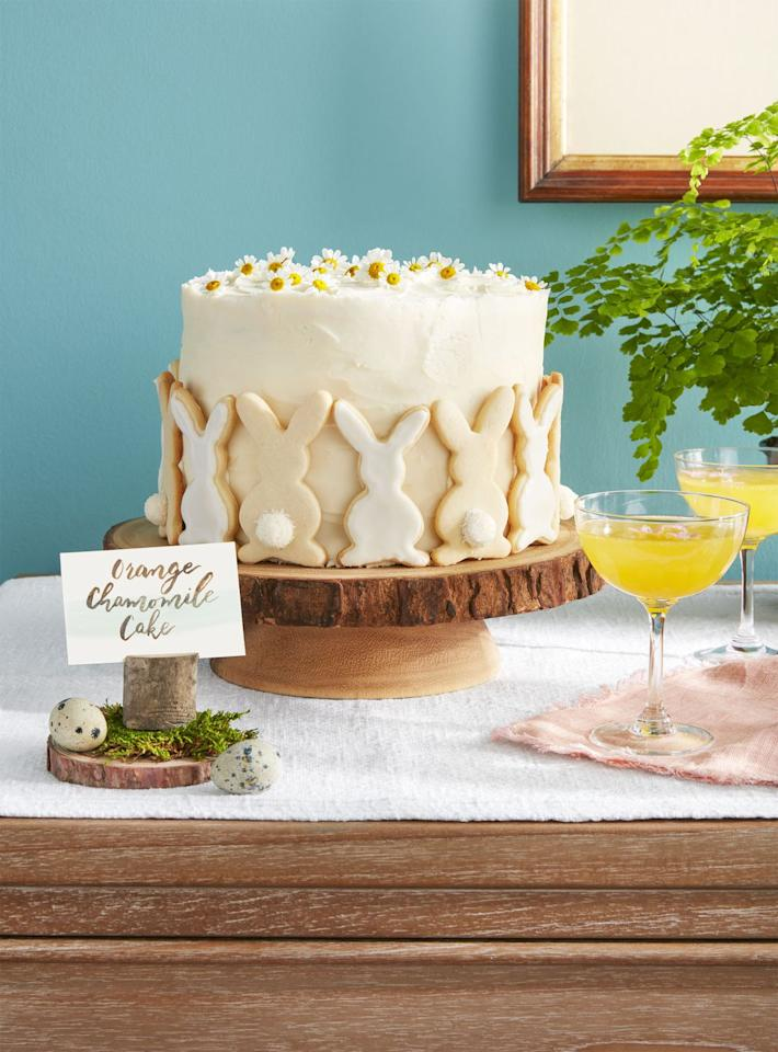 "<p>Edible chamomile flowers give this cake a summery feel. </p><p><strong><a rel=""nofollow"" href=""https://www.countryliving.com/food-drinks/a19041891/orange-chamomile-cake-recipe/"">Get the recipe.</a></strong></p><p><strong>Tools you'll need: </strong><em>8-inch baking pans ($17 for 2-pack, <a rel=""nofollow"" href=""https://www.amazon.com/Wilton-Aluminum-Performance-Multipack-2-Pack/dp/B072WKYZS6"">amazon.com</a>)</em><br></p>"