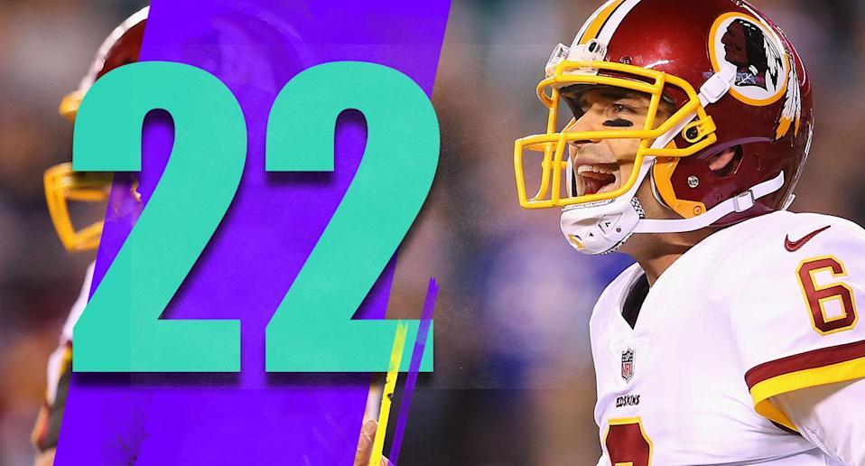 <p>On Nov. 18, Mark Sanchez was a free agent, out of football all year. Two weeks later, Sanchez became Washington's starter when Colt McCoy broke his leg. It's hard to see the Redskins winning another game. (Mark Sanchez) </p>