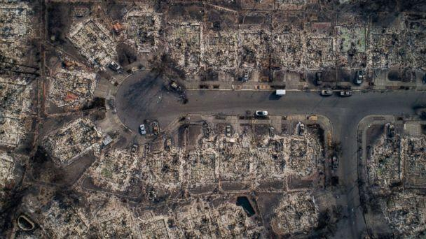 PHOTO: An aerial view of homes burned by wildfire in the Coffey Park neighborhood of Santa Rosa, Calif., Oct. 10, 2017. (Josh Haner/The New York Times via Redux)