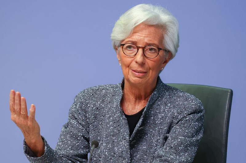 European Central Bank (ECB) President Christine Lagarde gestures as she addresses a news conference on the outcome of the meeting of the Governing Council, in Frankfurt, Germany, March 12, 2020. REUTERS/Kai Pfaffenbach