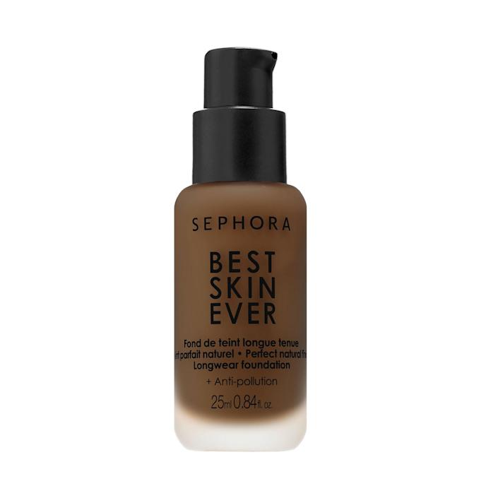"""Sephora may really be on to something with its <a href=""""https://www.allure.com/story/sephora-best-skin-ever-foundation-review?mbid=synd_yahoo_rss"""" rel=""""nofollow noopener"""" target=""""_blank"""" data-ylk=""""slk:Best Skin Ever Liquid Foundation"""" class=""""link rapid-noclick-resp"""">Best Skin Ever Liquid Foundation</a>. """"Once you've been wearing it for a few minutes, you kind of forget you're wearing foundation,"""" staff writer <a href=""""https://www.allure.com/contributor/nicola-dallasen?mbid=synd_yahoo_rss"""" rel=""""nofollow noopener"""" target=""""_blank"""" data-ylk=""""slk:Nicola Dall'Asen"""" class=""""link rapid-noclick-resp"""">Nicola Dall'Asen</a> shares. The velvety liquid is infused with hyaluronic acid, <a href=""""https://www.allure.com/story/squalane-vs-squalene-skin-care-difference?mbid=synd_yahoo_rss"""" rel=""""nofollow noopener"""" target=""""_blank"""" data-ylk=""""slk:squalane"""" class=""""link rapid-noclick-resp"""">squalane</a>, and <a href=""""https://www.allure.com/story/what-is-glycerin-skin-care-ingredient?mbid=synd_yahoo_rss"""" rel=""""nofollow noopener"""" target=""""_blank"""" data-ylk=""""slk:glycerin"""" class=""""link rapid-noclick-resp"""">glycerin</a>. $20, Sephora. <a href=""""https://shop-links.co/1732604435942296528"""" rel=""""nofollow noopener"""" target=""""_blank"""" data-ylk=""""slk:Get it now!"""" class=""""link rapid-noclick-resp"""">Get it now!</a>"""