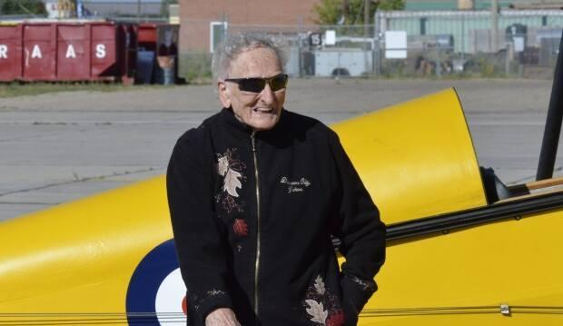 Theresa Kliem's piece on a 90-year-old woman's flight on a Tiger Moth for her birthday won for excellence in sound. (CBC/Theresa Kliem - image credit)