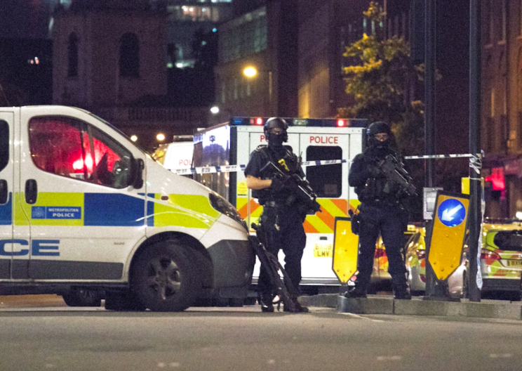 Police rushed into danger when the terrorists attacked London Bridge (Rex)