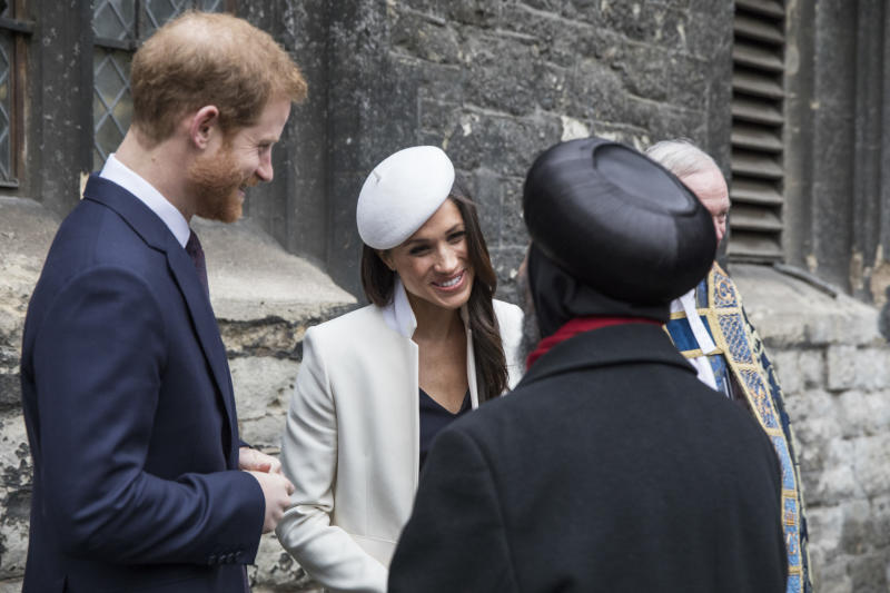 When it comes to meeting people, Markle has a natural ease, body language experts say. (WPA Pool via Getty Images)