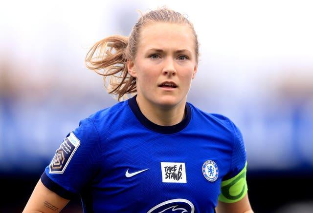 The match takes place in Chelsea skipper Magda Eriksson's native Sweden (Adam Davy/PA).