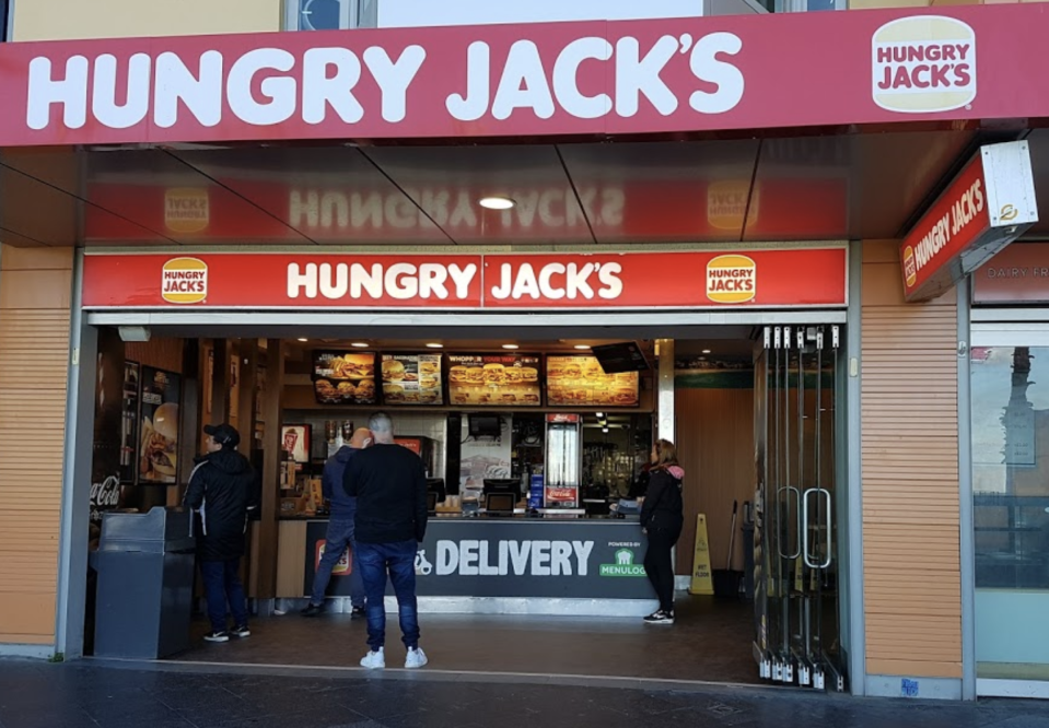 Bondi Beach Hungry Jack's outlet.