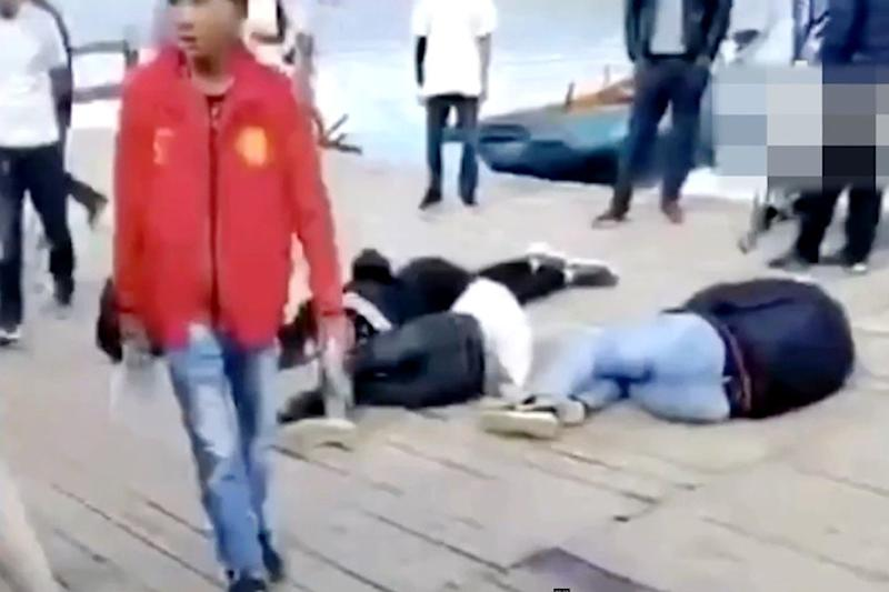Brawl breaks out after Chinese tourists throw melon seed shells into lake