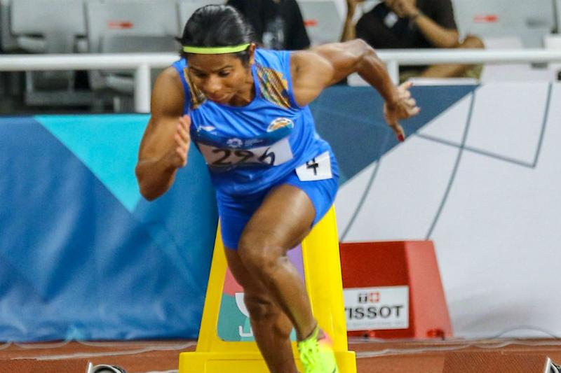 Dutee Chand Training at Night to Prepare for Doha Heat at IAAF World Athletics Championships