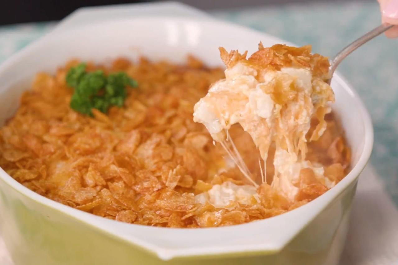 """<p><b>Recipe: <a href=""""https://www.southernliving.com/recipes/hashbrown-casserole-recipe"""">Hashbrown Casserole</a></b></p> <p>Hashbrown casserole is easy, budget-friendly, and downright delicious.</p>"""