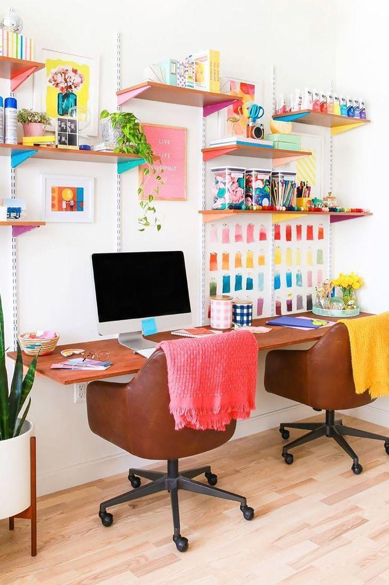 """<p>Just about anyone can benefit from having a <a href=""""https://www.goodhousekeeping.com/home/organizing/g25576393/desk-organization-ideas/"""" rel=""""nofollow noopener"""" target=""""_blank"""" data-ylk=""""slk:functional workspace"""" class=""""link rapid-noclick-resp"""">functional workspace</a> to tackle their to-do list, make headway on a creative project, or simply <a href=""""https://www.goodhousekeeping.com/life/entertainment/g30456677/best-books-of-2020/"""" rel=""""nofollow noopener"""" target=""""_blank"""" data-ylk=""""slk:catch up on some reading"""" class=""""link rapid-noclick-resp"""">catch up on some reading</a>. Luckily, when it comes to home office design schemes, the possibilities are endless. You can transform an unused closet with a few <a href=""""https://www.goodhousekeeping.com/home/decorating-ideas/g32223836/small-living-room-ideas/"""" rel=""""nofollow noopener"""" target=""""_blank"""" data-ylk=""""slk:space-saving design tricks"""" class=""""link rapid-noclick-resp"""">space-saving design tricks</a> or go bold by outfitting an entire room with graphic wallpaper, standout furniture, and colorful accessories. <br><br>Whether you love nothing more than rustic decor or prefer a modern aesthetic, look no further than our roundup of 30 brilliant home office ideas. This collection of images is filled with more than enough inspiration to upgrade your own home office with the right <a href=""""https://www.goodhousekeeping.com/home/decorating-ideas/g29831845/paint-color-trends-2020/"""" rel=""""nofollow noopener"""" target=""""_blank"""" data-ylk=""""slk:color palette"""" class=""""link rapid-noclick-resp"""">color palette</a>, <a href=""""https://www.goodhousekeeping.com/home-products/g34482905/best-furniture-on-amazon/"""" rel=""""nofollow noopener"""" target=""""_blank"""" data-ylk=""""slk:affordable furniture"""" class=""""link rapid-noclick-resp"""">affordable furniture</a>, and decorative accents.</p>"""