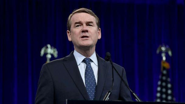 PHOTO: Democratic presidential candidate, Sen. Michael Bennet speaks during the Democratic Presidential Committee summer meeting, Aug. 23, 2019, in San Francisco. (Justin Sullivan/Getty Images, FILE)