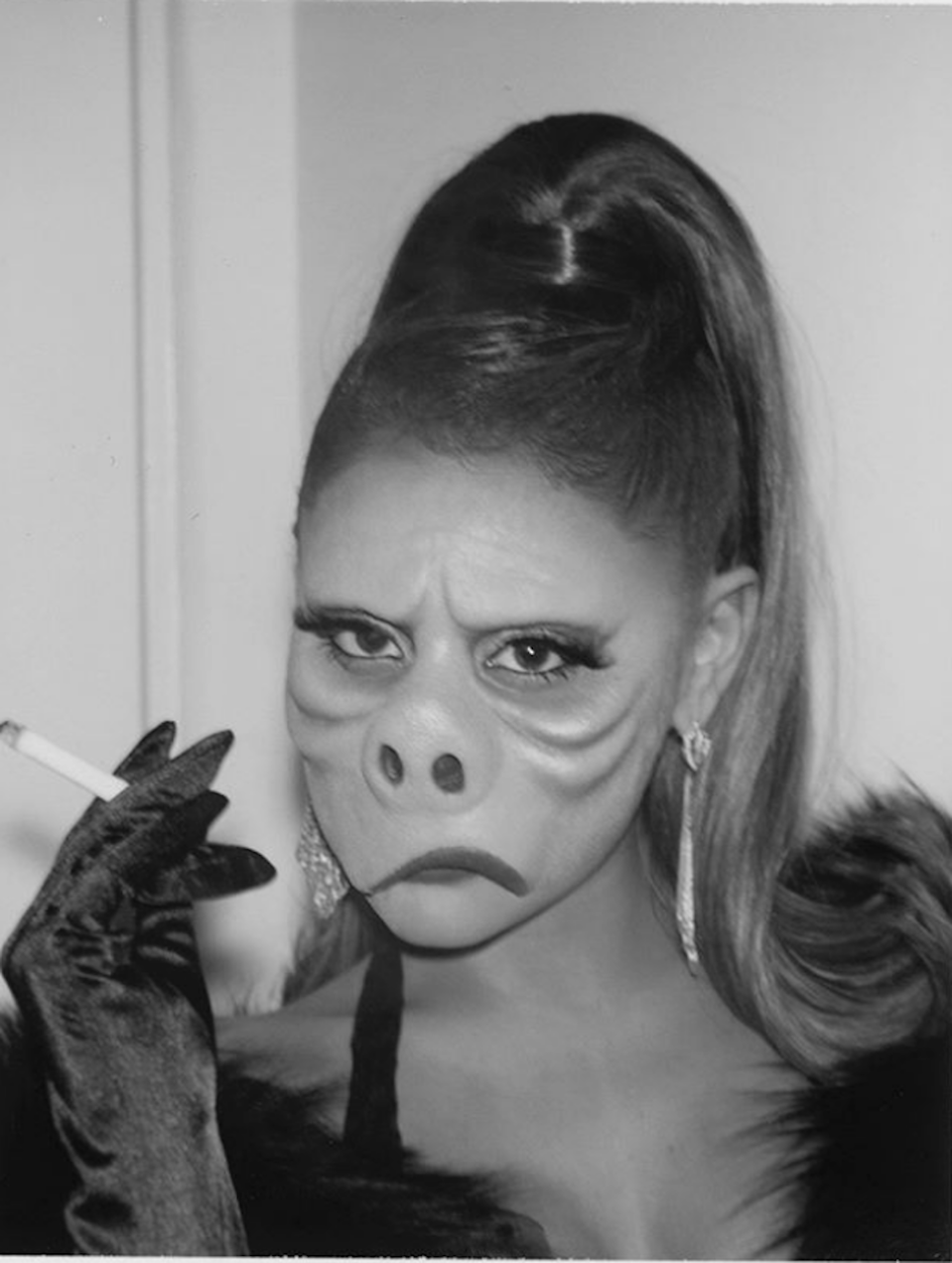 """Grande paid homage to an iconic <em>Twilight Zone</em> episode for her costume. Titled """"Eye of the Beholder,"""" it centers on a world where the standards of conventional beauty are inverted."""