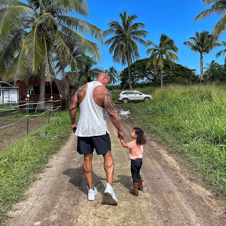 (Photo by @therock on Instagram)