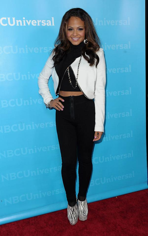 """<a href=""""/christina-milian/contributor/725350"""">Christina Milian</a> (""""<a href=""""/voice/show/47012"""">The Voice</a>"""") attends the 2012 NBC Universal Winter TCA All-Star Party at The Athenaeum on January 6, 2012 in Pasadena, California."""