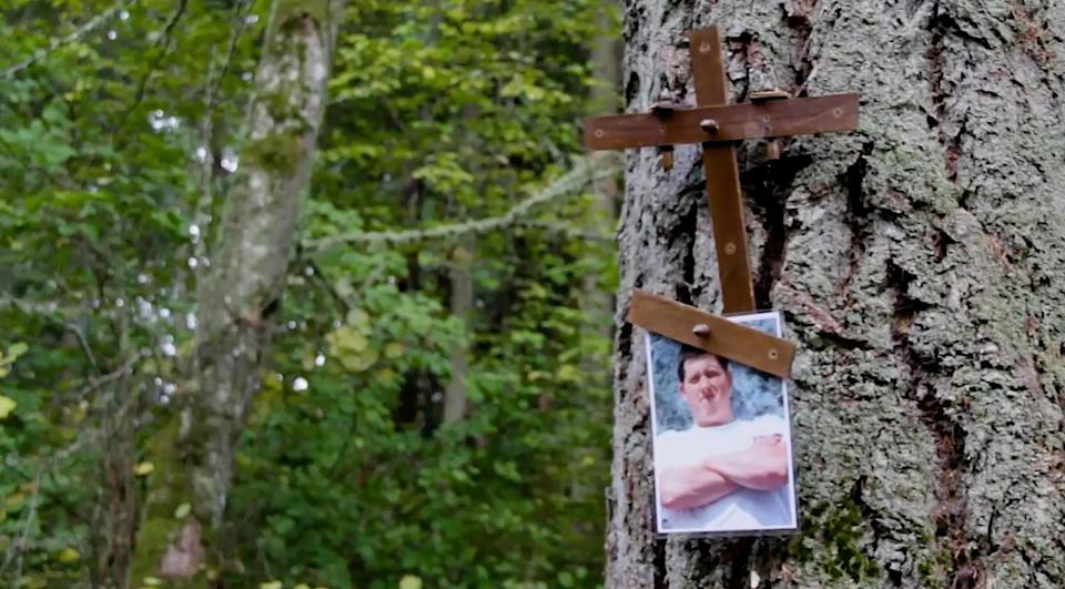 Family and friends left a tribute to him on the island where he died. In the years since, he's become something of a folk hero. - Credit: Washington Department of Natural Resources