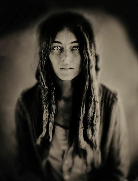 "This 2011 photo provided by Studio Q shows ""Kyleigh, Boulder, Colorado,"" in a wet plate collodion image made by Quinn Jacobson. Wet plate collodion photography, invented in 1851, has experienced a resurge in recent years as photographers turn to this antiquated method for its moody, even haunting, images. ""The aesthetic is kind of a half-remembered dream,"" says Jacobson, a Denver photographer. (AP Photo/ Studio Q, Quinn Jacobson)"