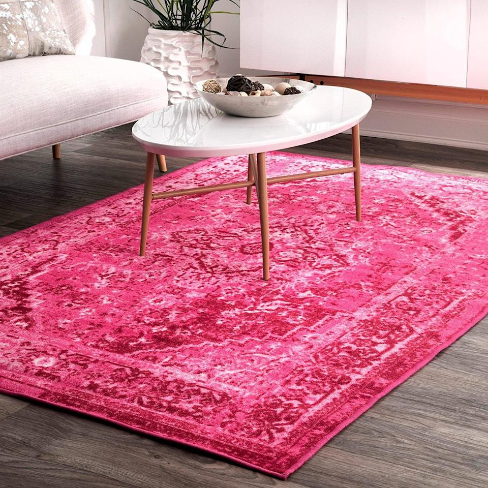 <p>We couldn't believe how affordable this <span>Nuloom Reiko Vintage Persian Area Rug</span> ($92, originally $144) is. Not only is it striking, but it's also a great quality. The 100 percent nylon material means it doesn't absorb stains easily, so you'll definitely be able to keep it for a long time.</p>