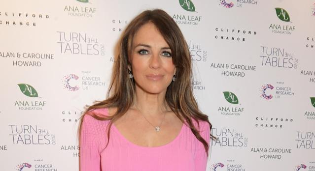 Liz Hurley suggested Eamonn Holmes tried squatting while brushing his teeth to ease back pain. (Getty Images)