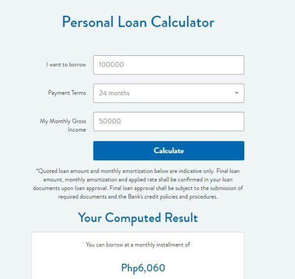 how personal loan is calculated - Security Bank Personal Loan Calculator