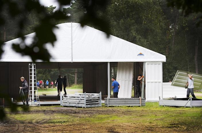 The Netherlands is anticipating the arrival of 3,000 asylum-seekers at Heumensoord, outside the eastern city of Nijmegen (AFP Photo/Piroschka van de Wouw)