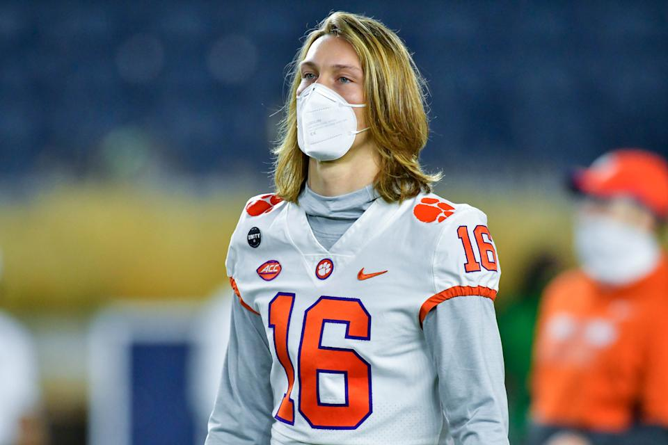 Clemson QB Trevor Lawrence's college career appears to be coming to an end soon. (Photo by Matt Cashore-Pool/Getty Images)