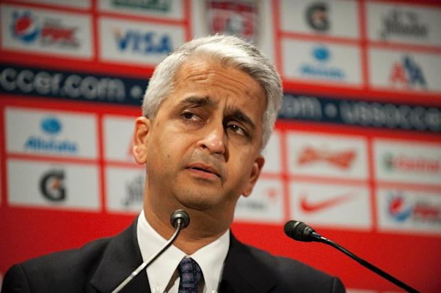 US Soccer President Sunil Gulati, pictured on August 1, 2011, said Donald Trump's election could adversely affect international opinion of the United States (AFP Photo/Don Emmert)