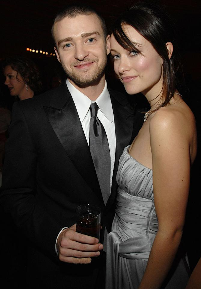 """<a href=""""/justin-timberlake/contributor/53785"""">Justin Timberlake</a> and <a href=""""/olivia-wilde/contributor/1232875"""">Olivia Wilde</a> at the In Style and Warner Bros. 2007 Golden Globe After Party."""