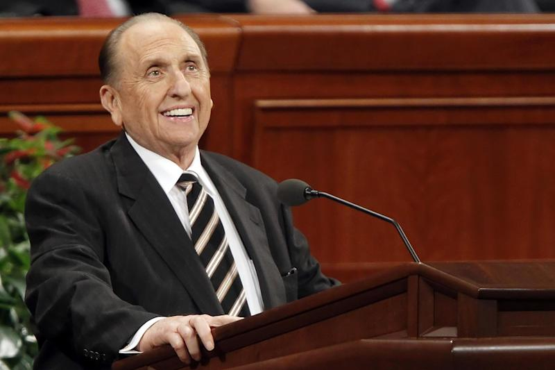 Thomas Monson, president of the Church of Jesus Christ of Latter-day Saints: Bloomberg via Getty Images