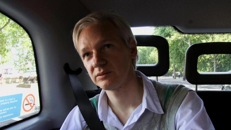 "This film publicity image released by Focus World shows Julian Assange in a scene from the documentary, ""We Steal Secrets: The Story of WikiLeaks."" (AP Photo/Focus World)"