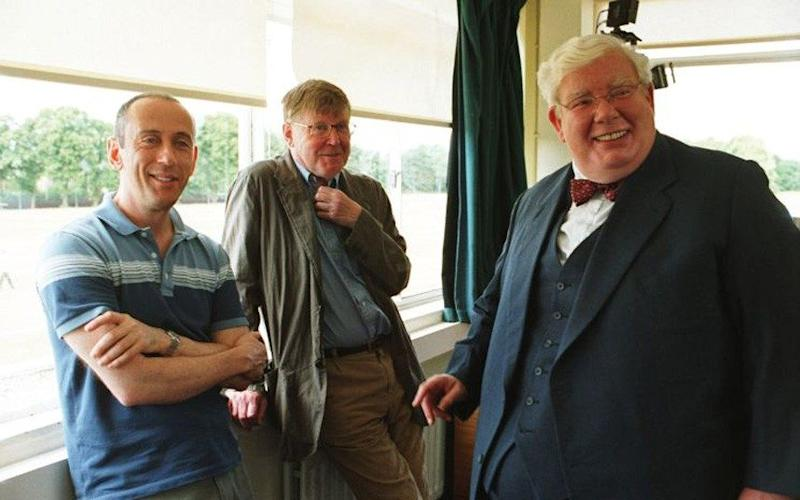 Richard Griffiths (right), star of The History Boys, with director Nicholas Hytner and playwright Alan Bennett