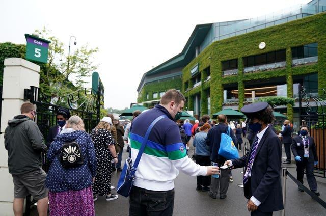 Day one of Wimbledon at The All England Lawn Tennis and Croquet Club