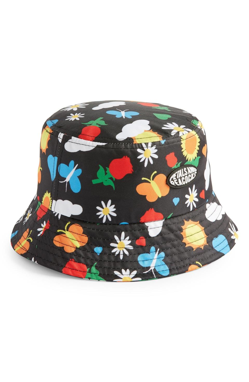 <p>If spring was an accessory, it would be this <span>Petals and Peacocks Flourish Bucket Hat</span> ($28), no doubt!</p>