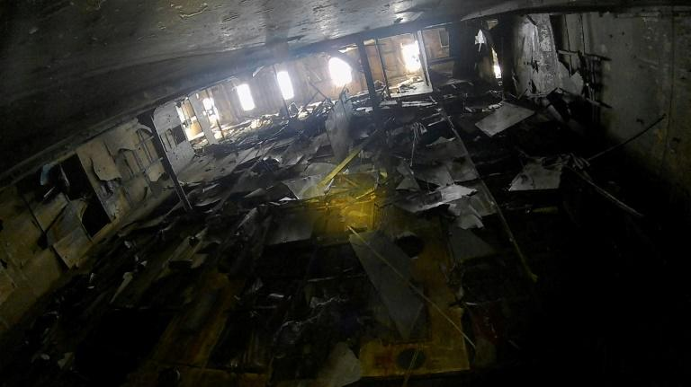 A photo from inside the wreck of of South Korea's Sewol ferry -- released by the Maritime Ministry -- shows the destruction in a cabin section on the fourth-floor deck that had been used by male students