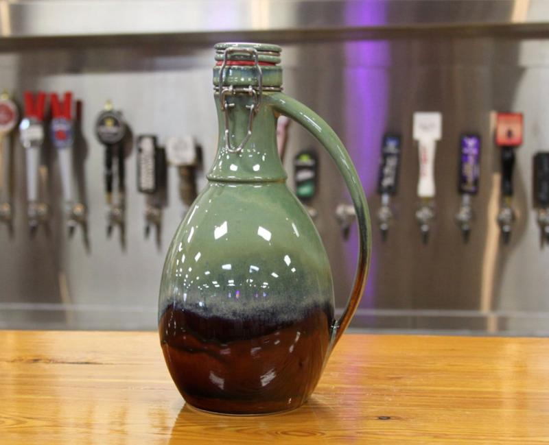 """Yes, ceramic growlers are on the pricy side. But they're a worthy investment, and way better for the actual beer than the cheaper glass options. Get it <a href=""""https://www.etsy.com/ca/listing/399034319/the-ridge-ceramic-growler"""" target=""""_blank"""" rel=""""noopener noreferrer"""">on Etsy</a> for $83."""