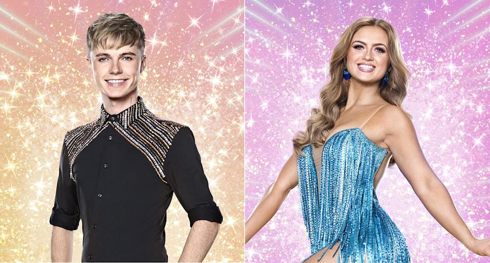 Strictly's HRVY and Masie Smith (credit: BBC)