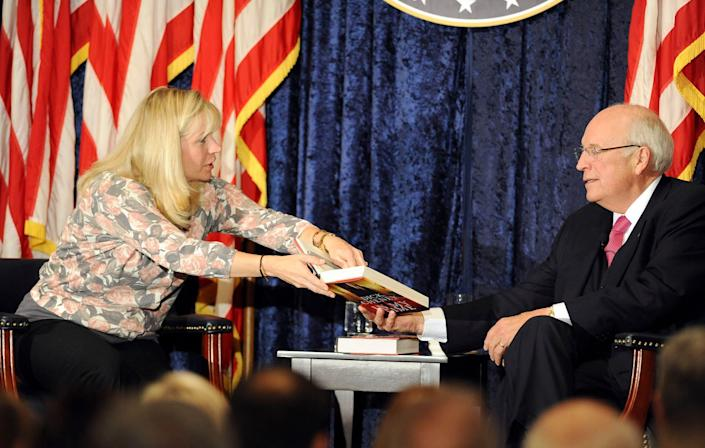 Former Vice President Dick Cheney and daughter, Liz, held a lecture at the Richard Nixon Library in Yorba Linda., Calif., on Wednesday night Sept. 7, 2011. (AP Photo/Rose Palmisano/Orange County Register)