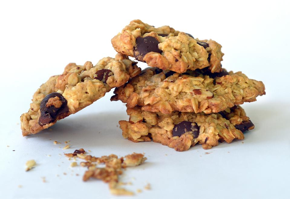 WASHINGTON, DC - OCTOBER 5: Oatmeal Chocolate Chip Almond cookies made with whole wheat pastry flour. (Photo by Toni L. Sandys/The Washington Post via Getty Images)