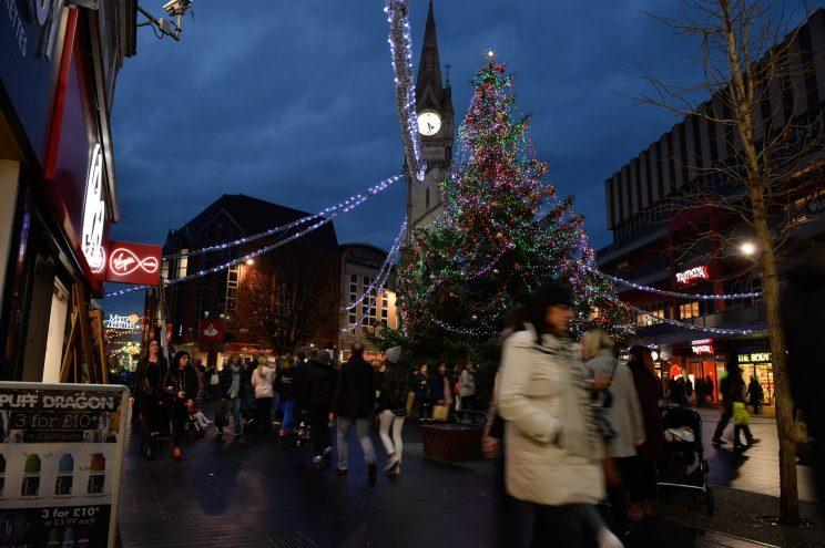 A city centre's Christmas tree has been branded a