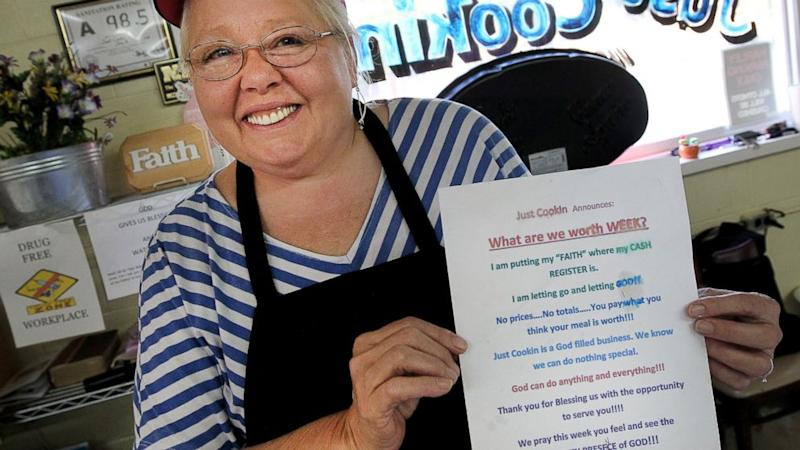 Restaurant Takes Prices Off the Menu and Puts Faith in God