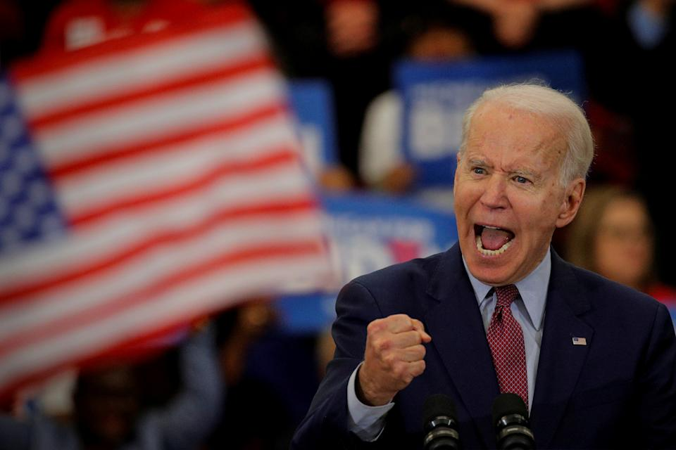 Democratic U.S. presidential candidate and former Vice President Joe Biden speaks during a campaign stop in Detroit, Michigan, U.S., March 9, 2020. REUTERS/Brendan McDermid.     TPX IMAGES OF THE DAY