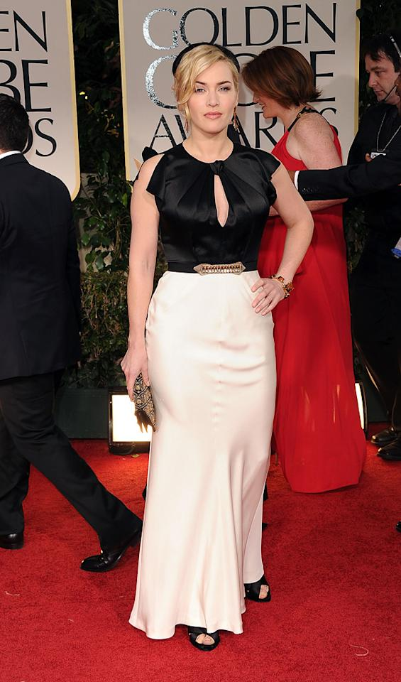 Kate Winslet arrives at the 69th Annual Golden Globe Awards in Beverly Hills, California, on January 15.