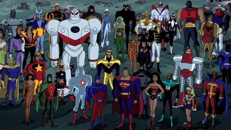 The animated JLU was a virtual army of superheroes.