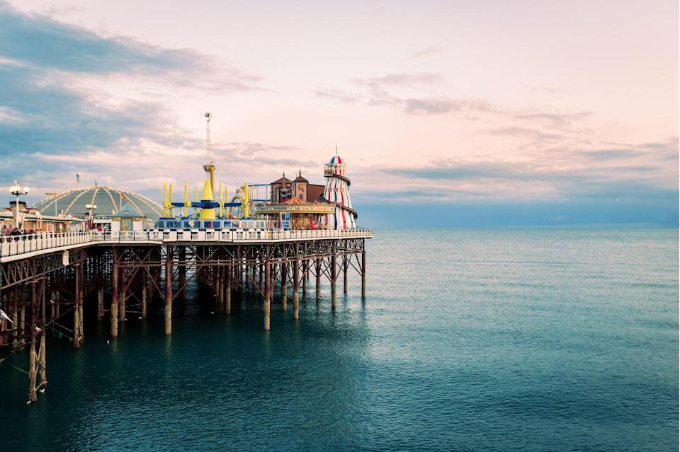 """<p>Famous for its bustling nightlife, arts scene, shopping and festivals, we couldn't think of a better and more famous seaside resort town to escape to from the city. </p><p>With amusement arcades, jewellery shops lining The Lanes and regency-era buildings, there's plenty on offer at this beach spot, in addition to its pebble-shoreline where it'd be rude not to take a dip or tuck into a bag of fish and chips. </p><p>A popular commuter spot, its proximity to London makes it even more appealing for those in need of a bit of sea-breeze and an escape from the Old Smoke for the day at a moment's notice. </p><p><strong>Distance from London</strong>: 47 miles</p><p><strong>How to get there</strong>: London Victoria to Brighton via <a href=""""https://www.thetrainline.com/book/results?origin=2144c4ddc11461cf9b03af198933e8df&destination=d128c912dc2a48dcb986c439d1cd6be5&outwardDate=2020-07-16T14%3A30%3A00&outwardDateType=departAfter&journeySearchType=single&passengers%5B%5D=1990-07-16&selectedOutward=6x%2FJSqCFn0k%3D%3ABOG6pzJNoNE%3D"""" rel=""""nofollow noopener"""" target=""""_blank"""" data-ylk=""""slk:train"""" class=""""link rapid-noclick-resp"""">train</a> (1hr).</p>"""