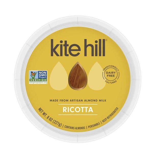 """<p><strong>Kite Hill</strong></p><p>instacart.com</p><p><a href=""""https://go.redirectingat.com?id=74968X1596630&url=https%3A%2F%2Fwww.instacart.com%2Flanding%3Fproduct_id%3D2682416%26retailer_id%3D205%26region_id%3D2656974366%26gclid%3DCj0KCQiAno_uBRC1ARIsAB496IUdEM8V07Uz3qYjLYgmeejves0u_if56ihNcTeHTnaP5IlPMbEKCGUaAolpEALw_wcB&sref=https%3A%2F%2Fwww.womenshealthmag.com%2Ffood%2Fg29648044%2Fvegan-cheese-brands%2F"""" rel=""""nofollow noopener"""" target=""""_blank"""" data-ylk=""""slk:Shop Now"""" class=""""link rapid-noclick-resp"""">Shop Now</a></p><p>Though this tangy almond milk-based cheese from the popular brand Kite Hill is a bit crumbly, it still somehow feels ricotta-like in texture. Its nice consistency makes it prime for baking (a la lasagna) or even cream-filled vegan cannolis.</p>"""