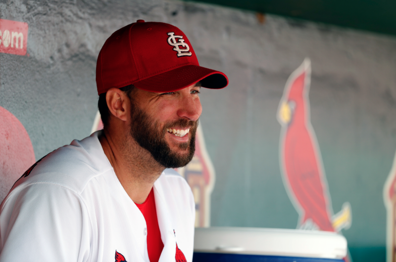 Adam Wainwright had reason to smile Thursday afternoon